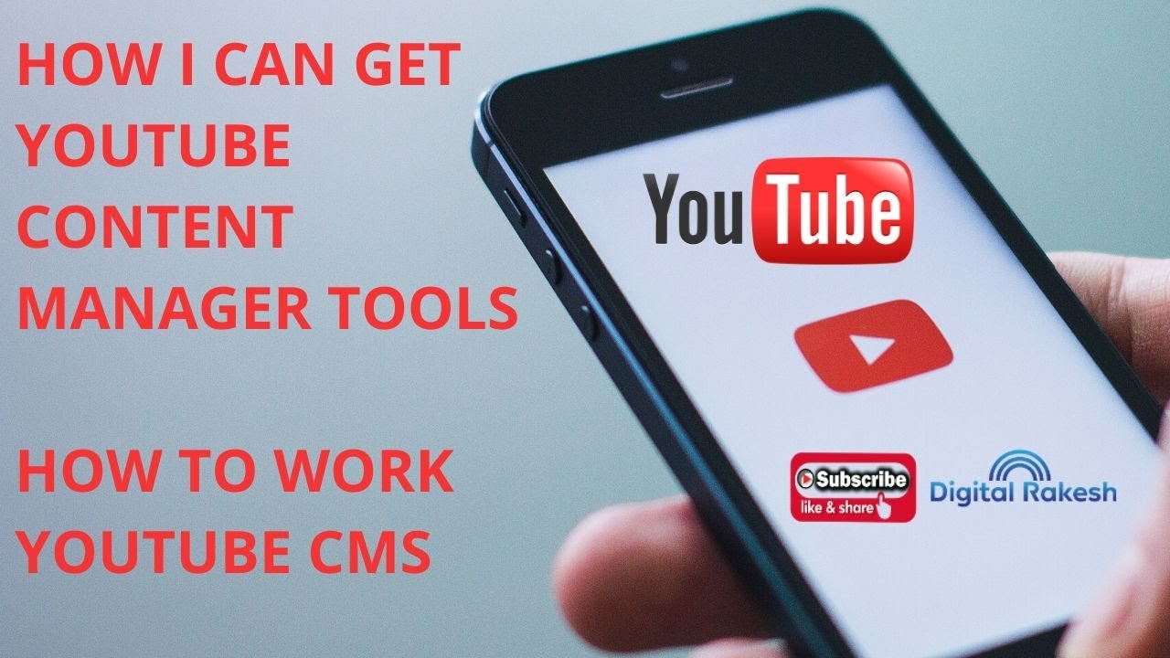 How I can get YouTube Content Manager tools  How to work youtube cms