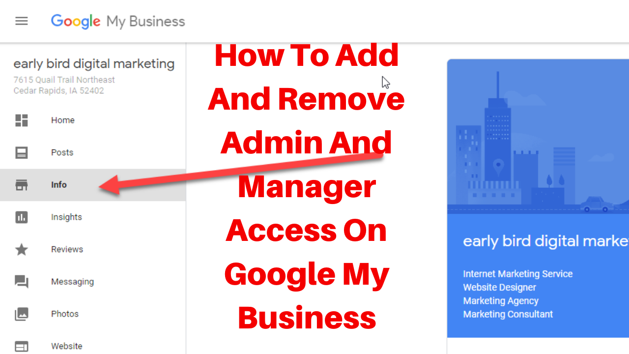 How to add and remove admin and manager access on google my business