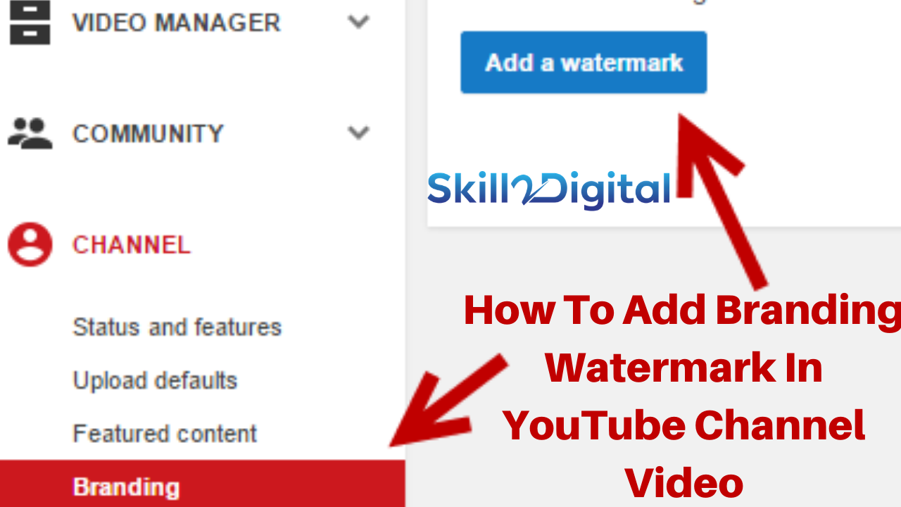 How To Add Branding Watermark In YouTube Channel Video with creator studio