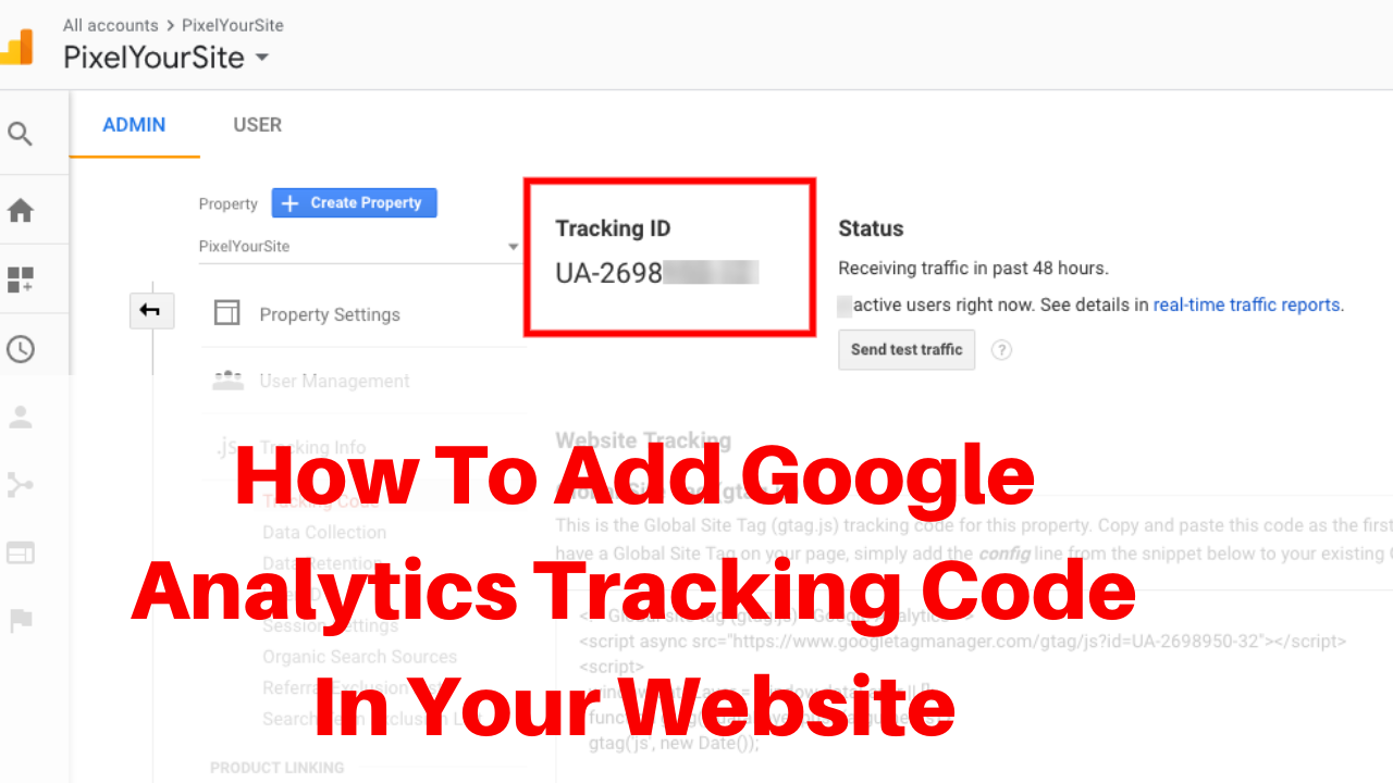 How to add google analytics tracking code in your website
