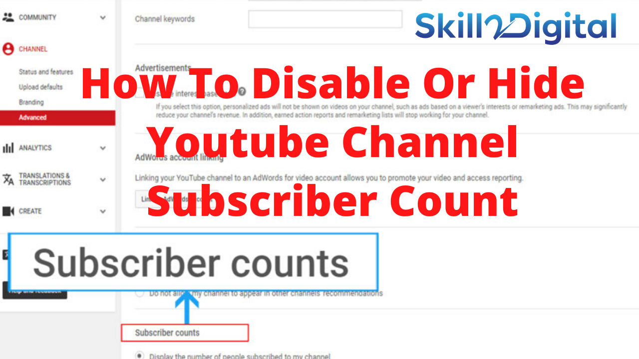 How To Disable Or Hide Youtube Channel Subscriber Count