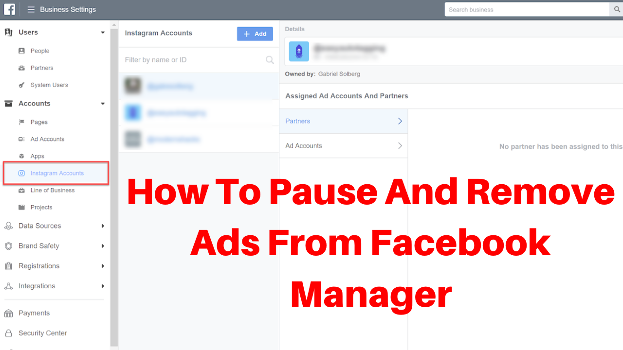 How to pause and remove ads from facebook manager