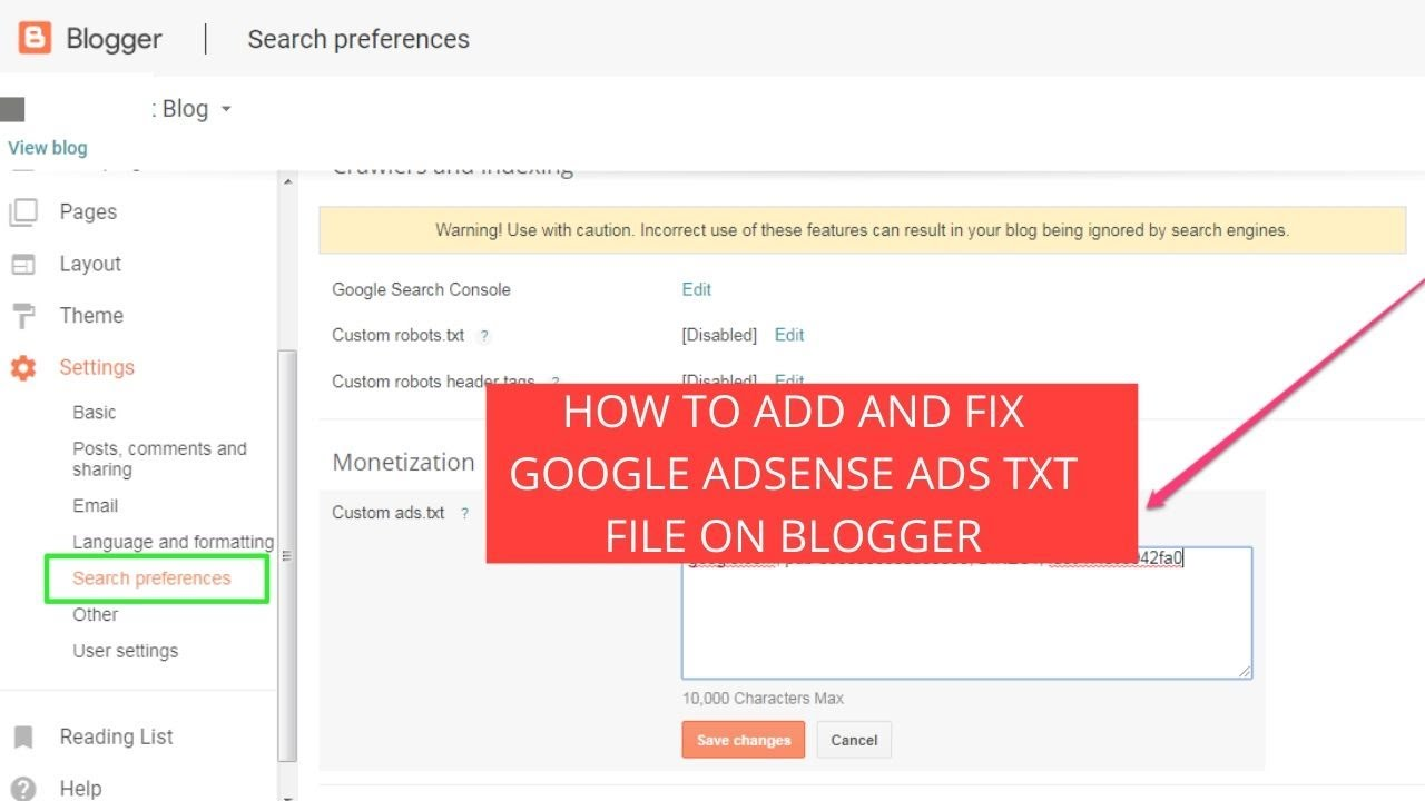 How to add and fix google adsense ads.txt file on blogger