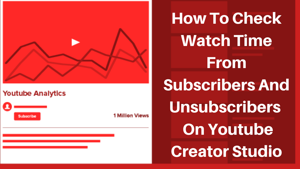 How to check Watch time from subscribers on youtube creator studio