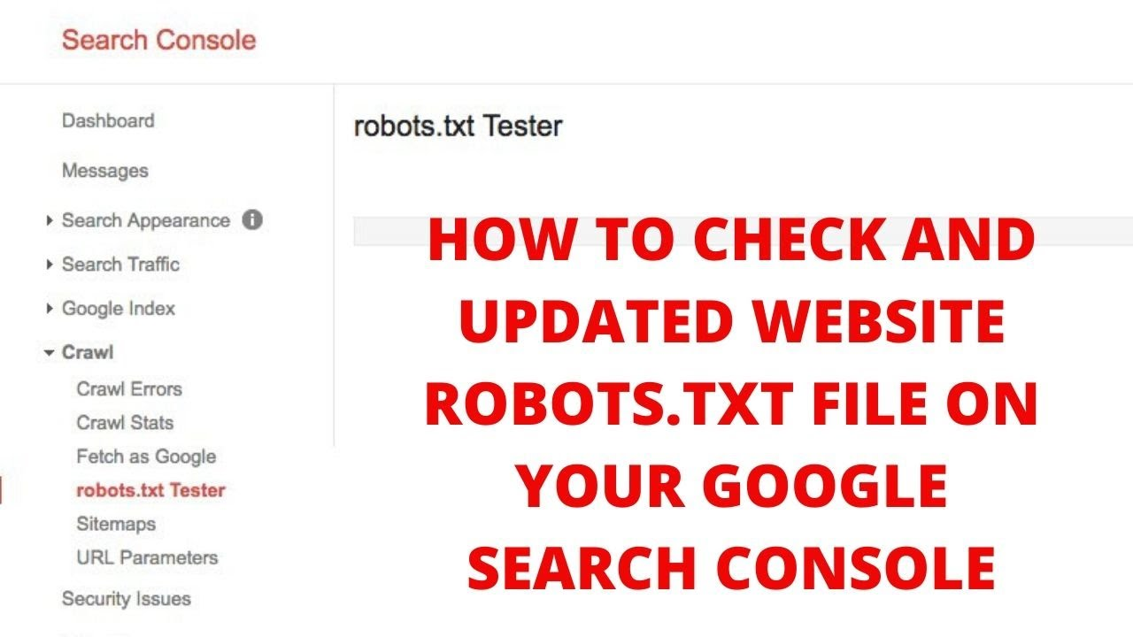 How to check and updated website robots.txt file on your google search console