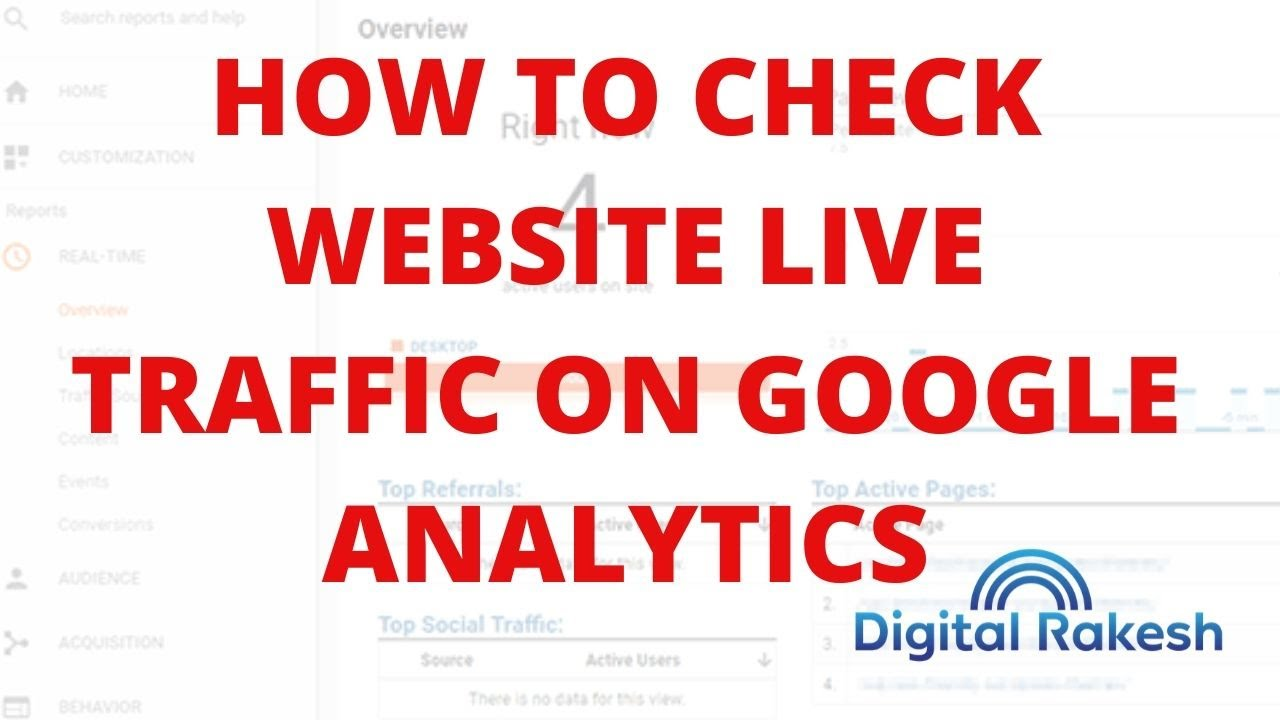 How to check website live traffic on google analytics