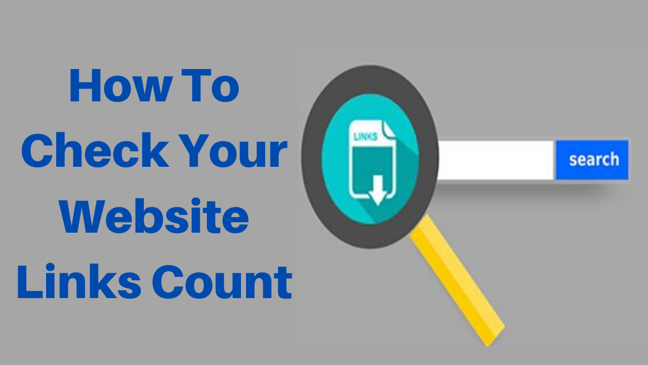 How to check your website links count