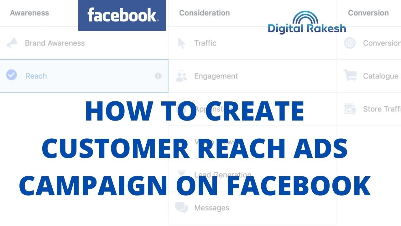 How to create Customer reach ads campaign on facebook
