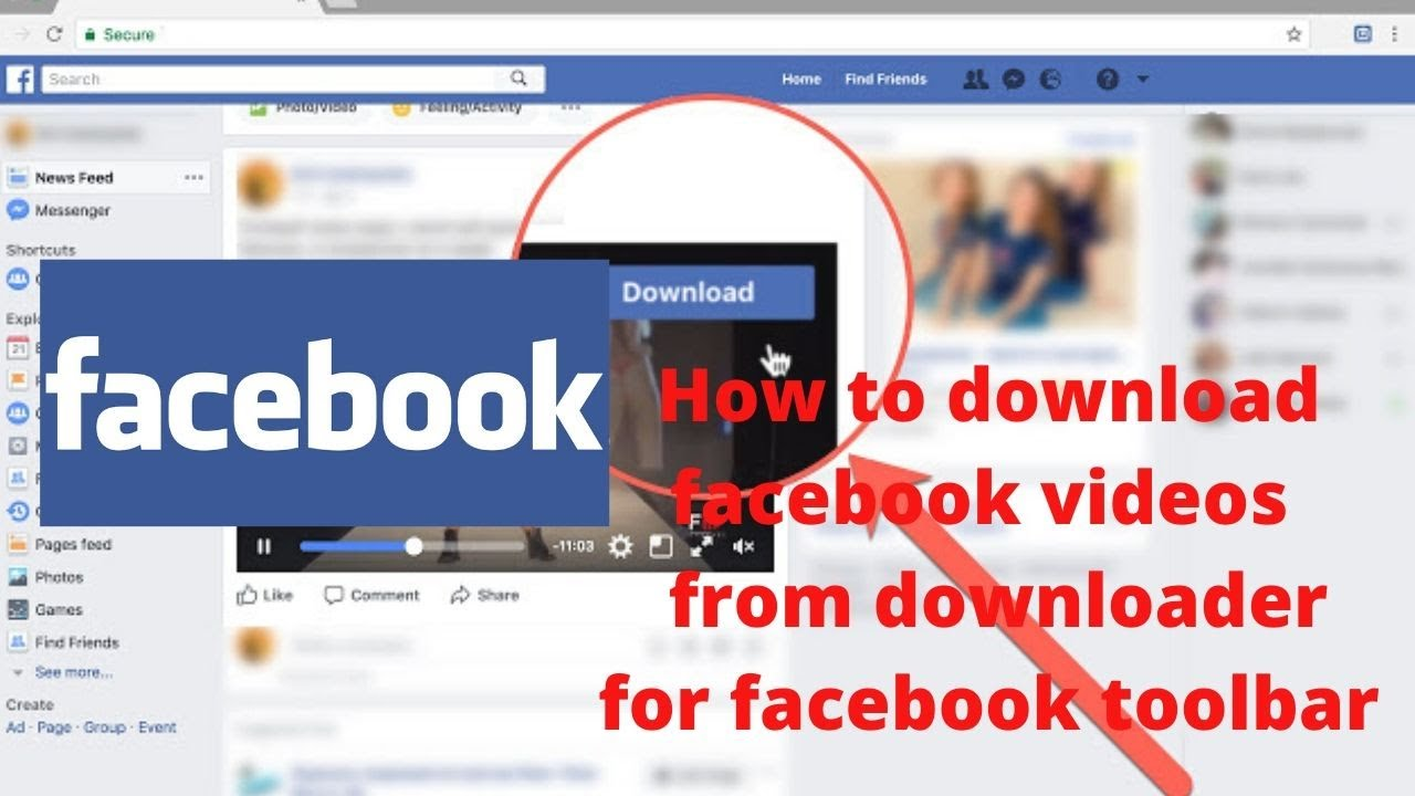 How to download facebook videos  from downloader for facebook toolbar
