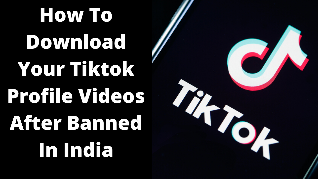 How To Download Your Tiktok Profile Videos After Banned In India