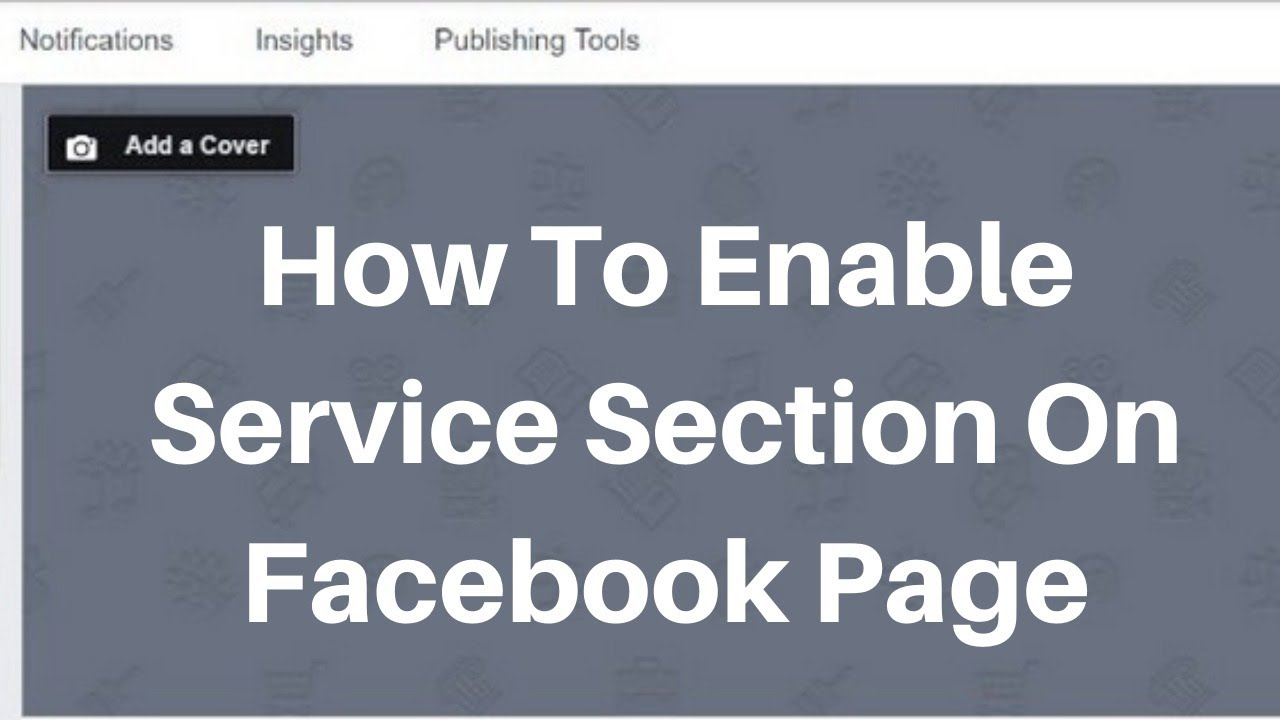 How to enable service Request section on facebook business page
