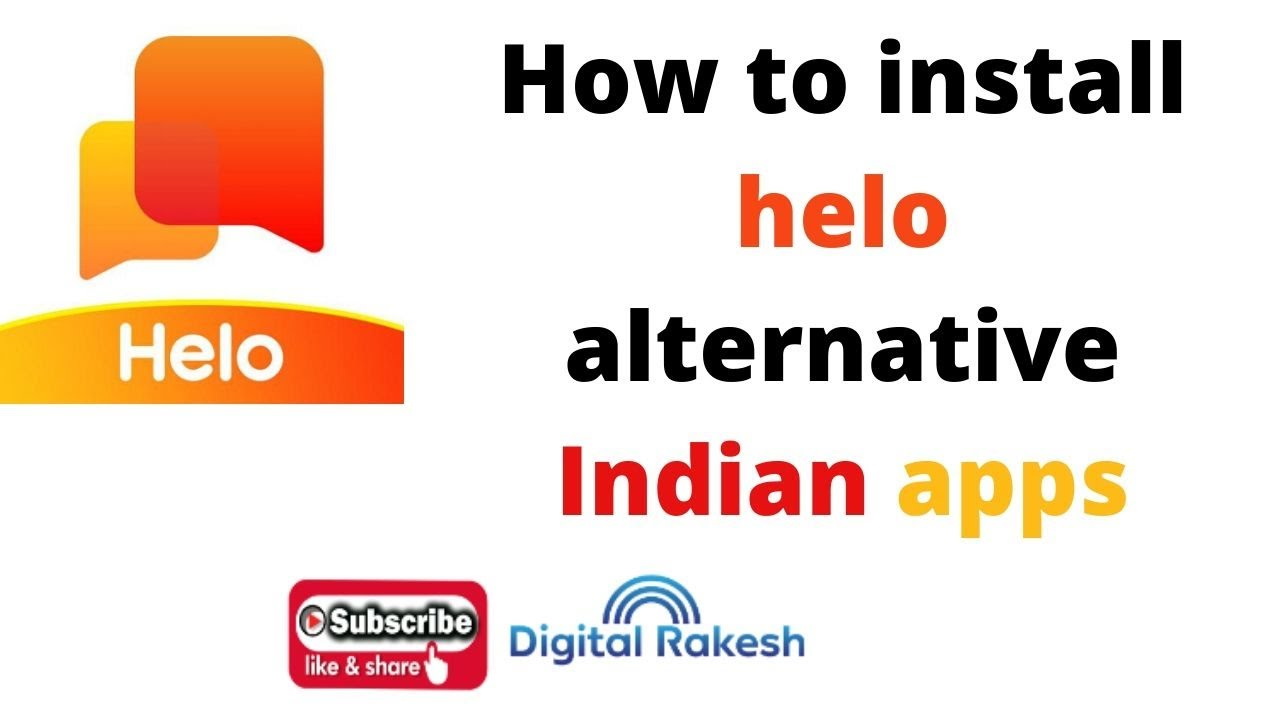 How to install helo alternative Indian apps