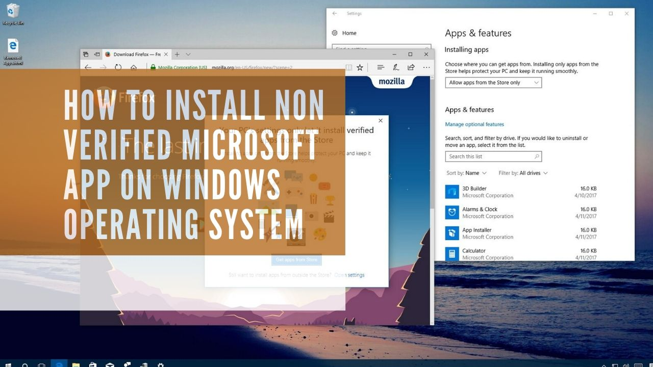 How to install non verified microsoft app on windows operating system