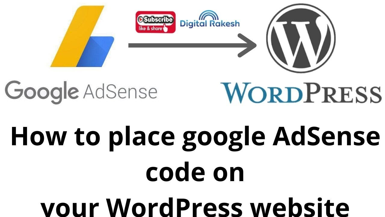 How to place google AdSense code and display ads in your WordPress website