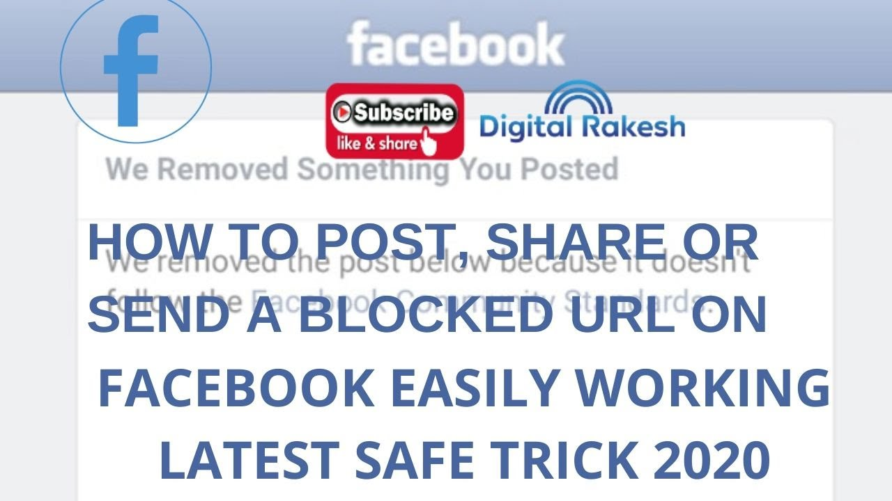How to post share or send a blocked url on facebook easily working latest safe trick 2020