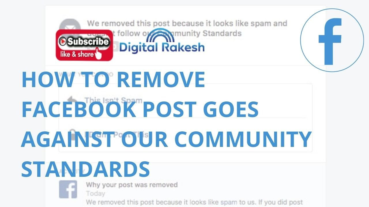 How to remove Facebook post goes against our Community Standards