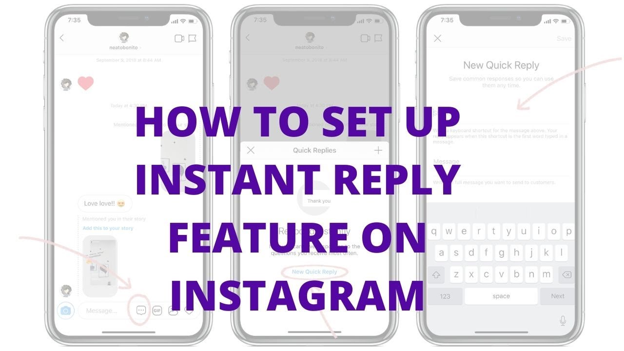 How to set up instant reply feature on Instagram
