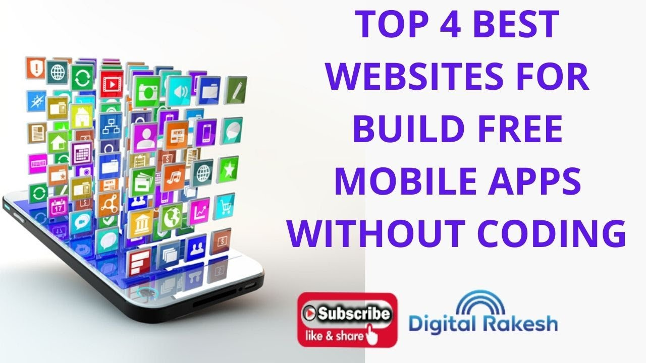 Top 4 Best Websites for Build free mobile Apps without Coding