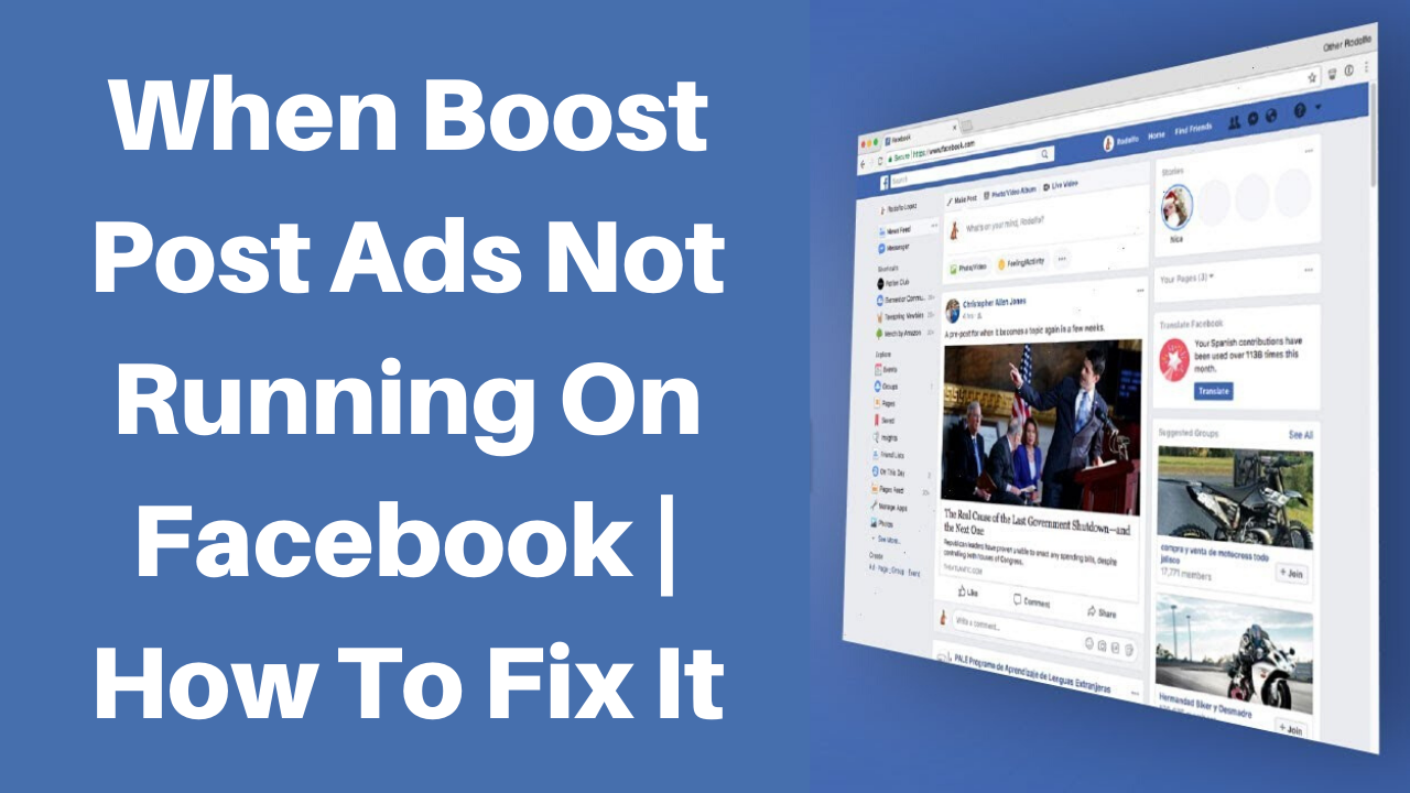 when boost post ads not running on facebook how to fix