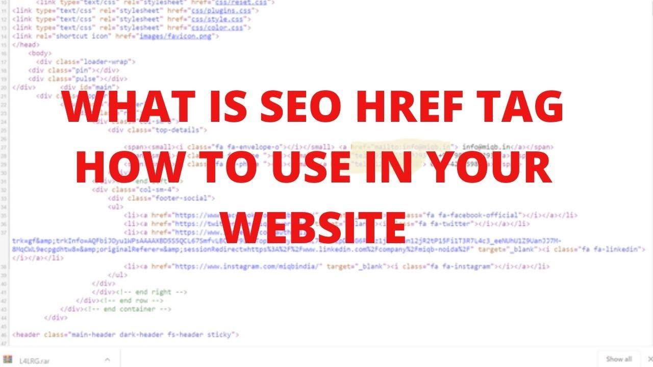 what is seo href tag How to use in your website