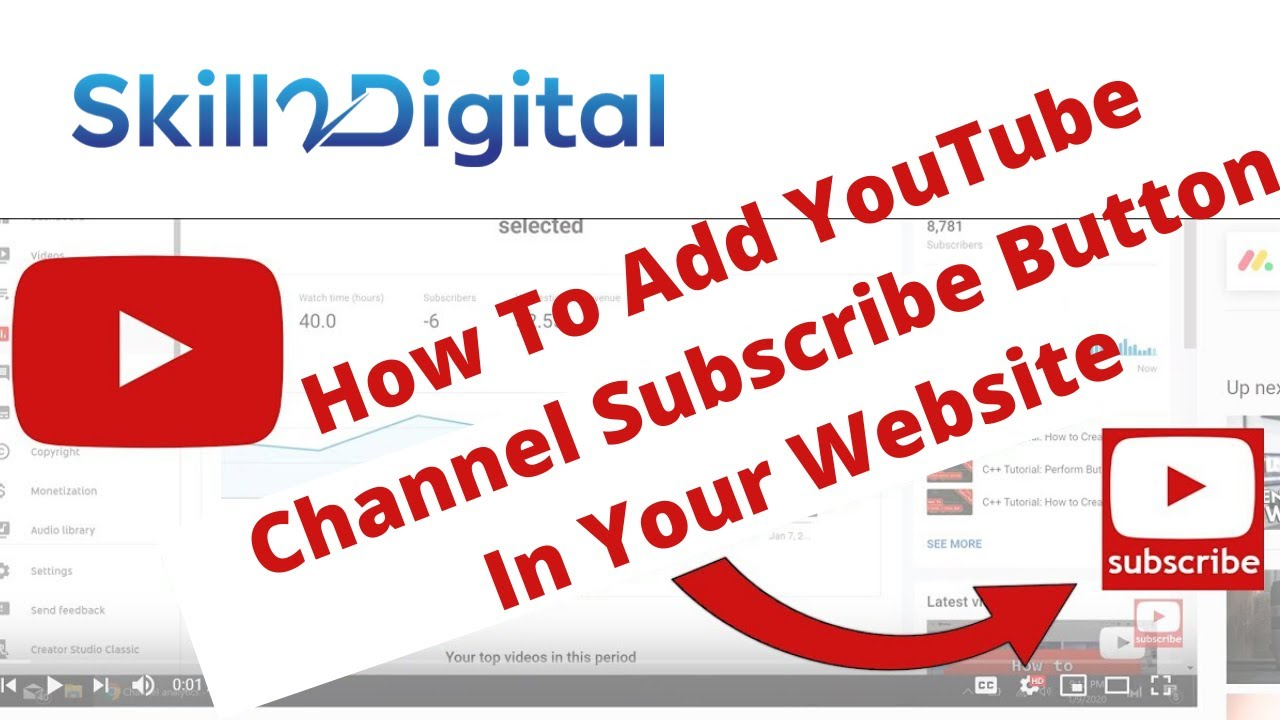 How to Add a YouTube Subscribe button to your Website